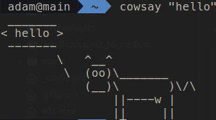 cowsay in terminal